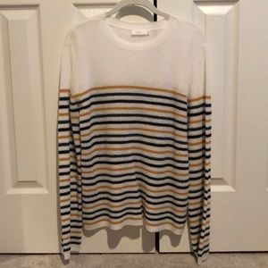 A.L.C. Off white sweater with stripes